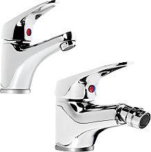 Miscelatore rubinetto bidet cromato + miscelatore