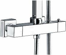 Miscelatore termostatico quadrato per colonna