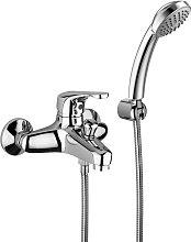 Miscelatore vasca con set doccia e deviatore