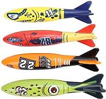MISINIO Underwater Torpedo Rocket Toy 4 Pz
