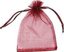 MISNODE 100 sacchetti in organza velata da 10 x 15