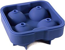 Misterchef 1x stampo in silicone Ice Ball, blu