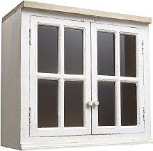 Mobile alto vetrato color avorio da cucina in