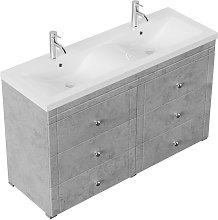 Mobile bagno a terra Gallo Classic grigio cemento