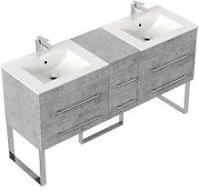 Mobile bagno a terra Roma XL grigio cemento