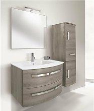 Mobile bagno con colonna linea circle 73 cm -