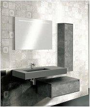 Mobile bagno con colonna linea free 110 cm -