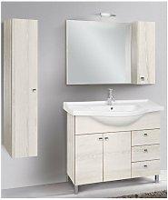 Mobile bagno con colonna linea light 105 cm -
