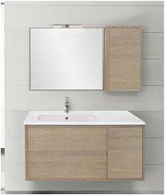 Mobile bagno con pensile linea clever 105 cm -