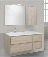 Mobile bagno con pensile linea clever 121 cm -