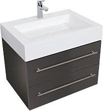 Mobile bagno Design 700 antracite satinato