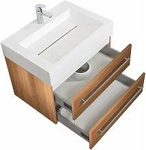 Mobile bagno Design 700 rovere chiaro