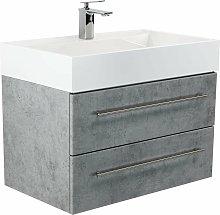 Mobile bagno Design 750 grigio cemento