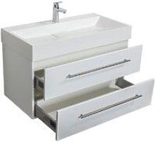Mobile bagno Design 900 bianco lucido