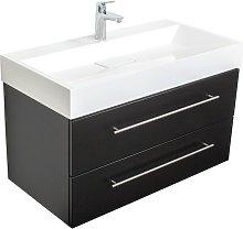 Mobile bagno Design 900 nero satinato