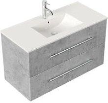 Mobile bagno Firenze 100 bianco grigio cemento