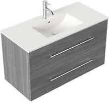 Mobile bagno Firenze 100 bianco rovere grigio