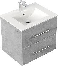 Mobile bagno Firenze 60 bianco grigio cemento