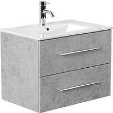 Mobile bagno Firenze 70 bianco grigio cemento