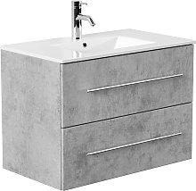 Mobile bagno Firenze 80 bianco grigio cemento