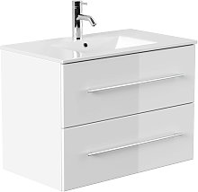 Mobile bagno Firenze 80 bianco lucido