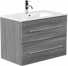 Mobile bagno Firenze 80 bianco rovere grigio