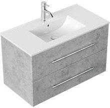 Mobile bagno Firenze 90 bianco grigio cemento