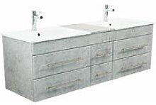 Mobile bagno Milano XL 172cm con doppio lavabo