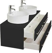Mobile bagno Novum XL nero satinato con doppio
