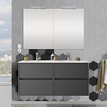 Mobile bagno sospeso 120 cm Mavi grigio grafite 4