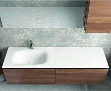 Mobile bagno sospeso 155 cm con lavabo in solid