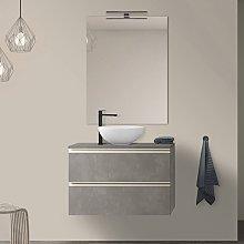 Mobile bagno sospeso 80 cm Master grigio effetto