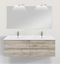 Mobile bagno sospeso con colonna linea slim 141 cm