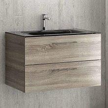 Mobile bagno sospeso da 80 cm con lavabo incasso
