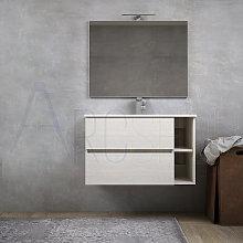 Mobile bagno sospeso moderno bianco rock 90 cm