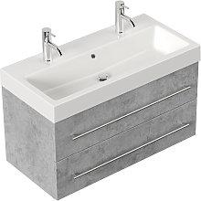 Mobile bagno Sunrise grigio cemento