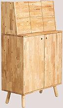 Mobile bar in legno Arlan Legno di gomma Legno