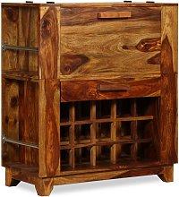 Mobile Bar in Legno Massello di Sheesham 85x40x95