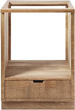 Mobile basso da cucina per forno in legno massello