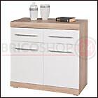 Mobile Credenza Buffet Bianco Rovere 2 Ante