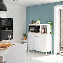 Mobile cucina 108x40x126 cm Bianco opaco e Rovere