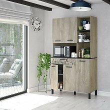 Mobile cucina 108x40x186 cm Rovere e Grigio