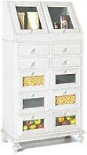 Mobile Dispensa Classico Cucina Legno | Bianco