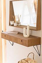 Mobile per Ingresso sospeso in legno 80 cm Glai