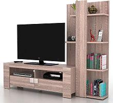 Mobile porta TV con libreria salotto Lisburn T728