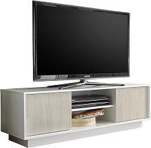 Mobile porta TV di design in laccato bianco lucido