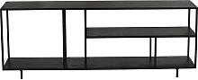 Mobile TV design metallo nero KARL ripiano basso