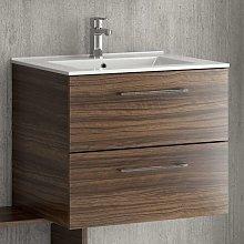 Mobiletto bagno sospeso 60cm con lavabo incasso
