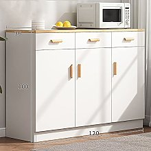 Mobiletto da Cucina Autoportante Bianco, Mobiletto