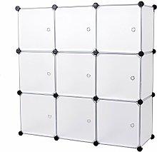 Mobiletto modulare quadrato BIANCO 9 scomparti